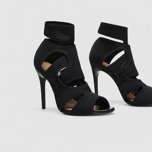 ZARA Wraparound Fabric Open Toe Sandals